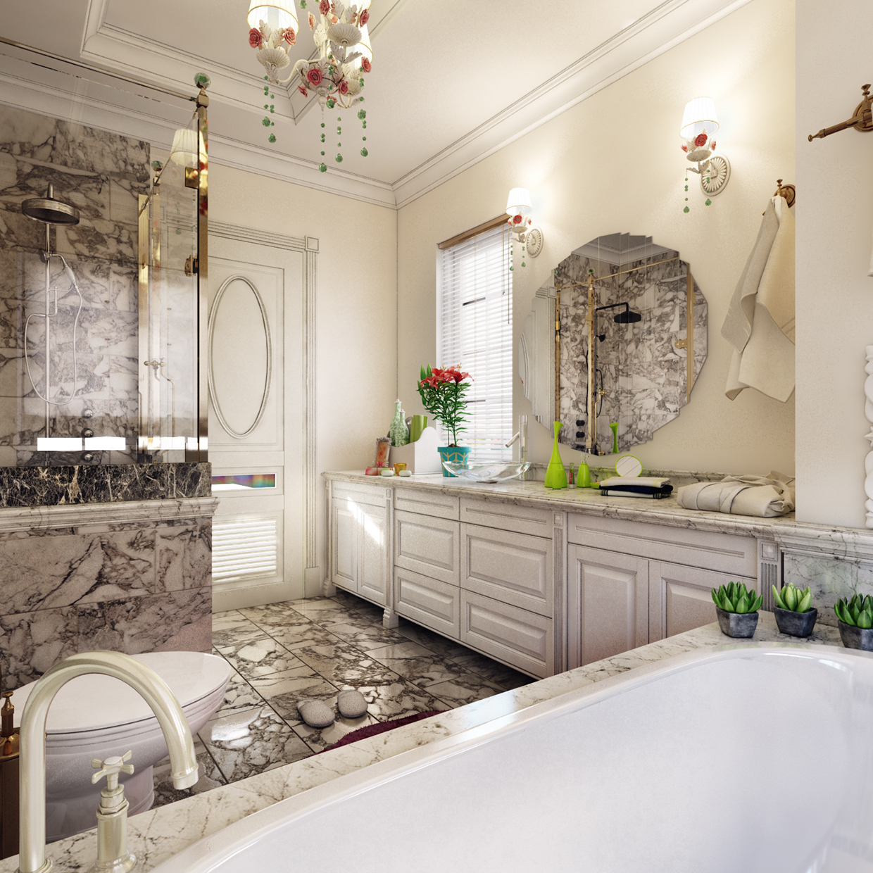 decorating small bathroom look luxurious
