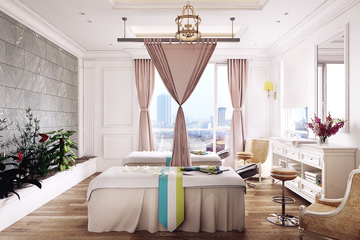 Inspiration To Create Minimalist House Design Using Soft Color With Spa Room Inside Roohome