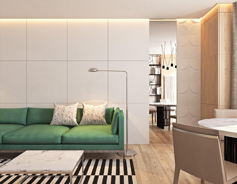 contemporary living room apartment design