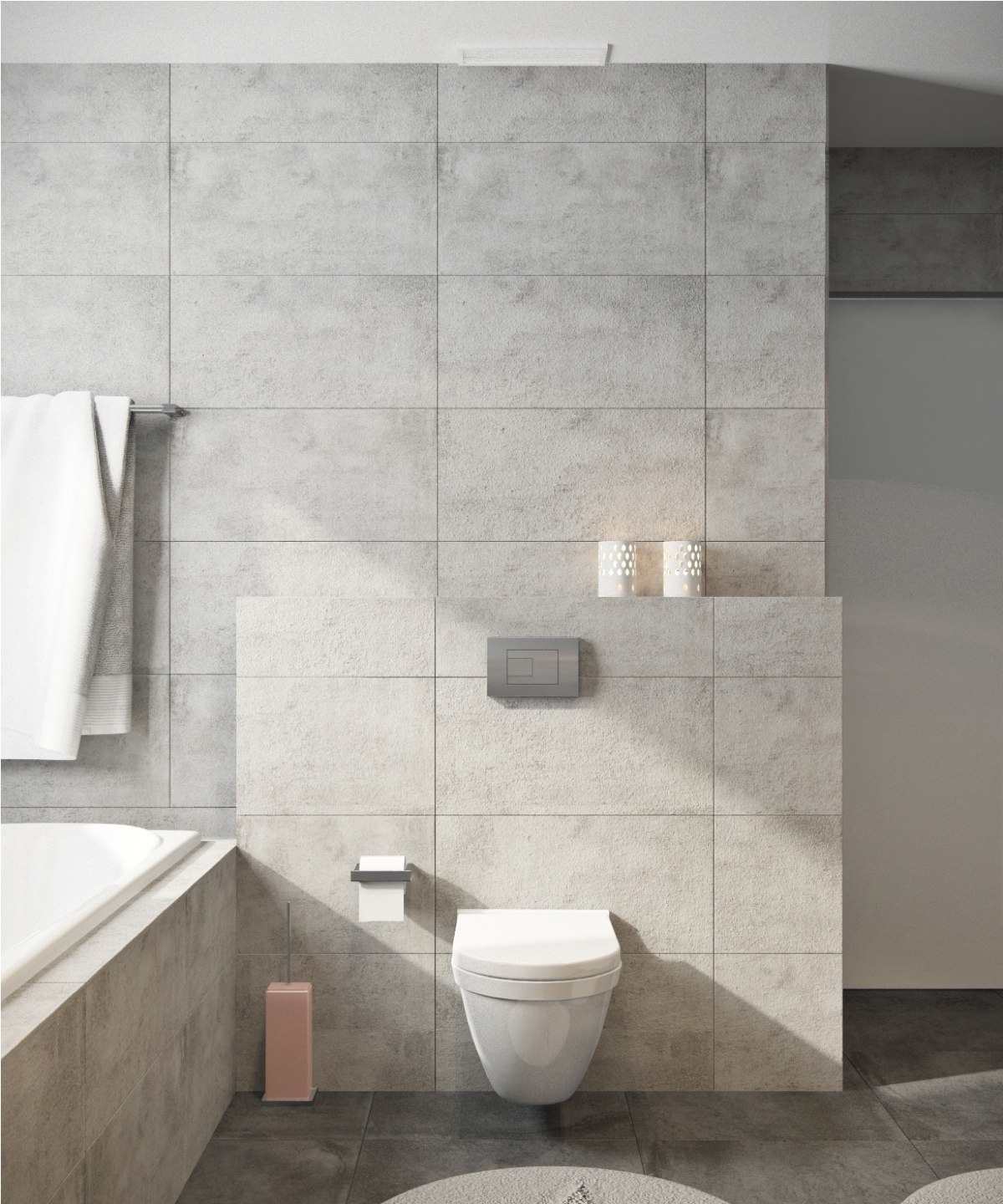 simple gray bathroom design