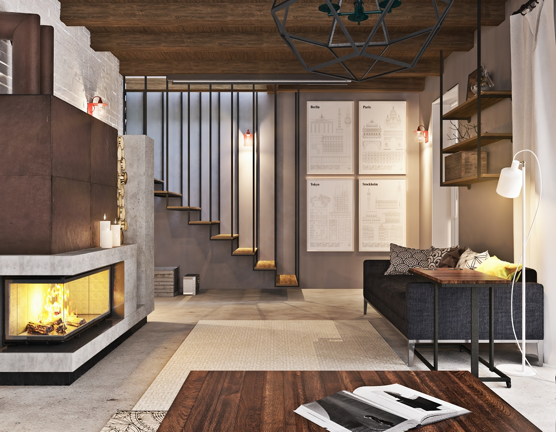 minimalist studio apartment