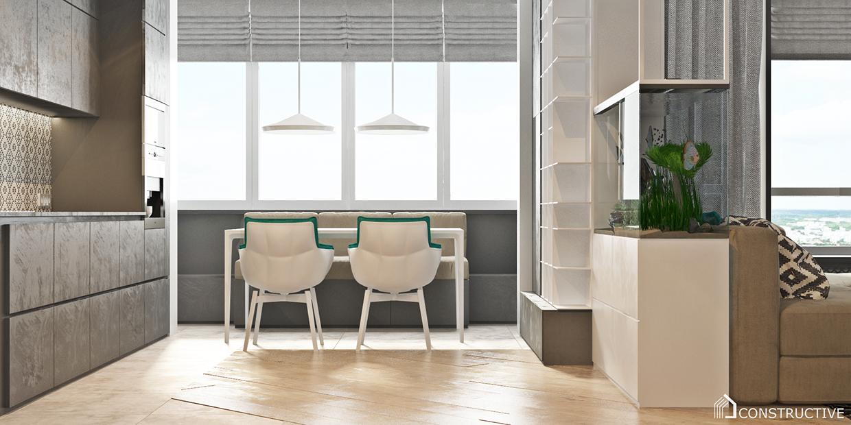 minimalist dining room apartment decorating