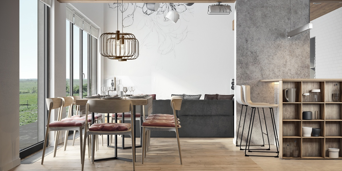 minimalist dining apartment decorating