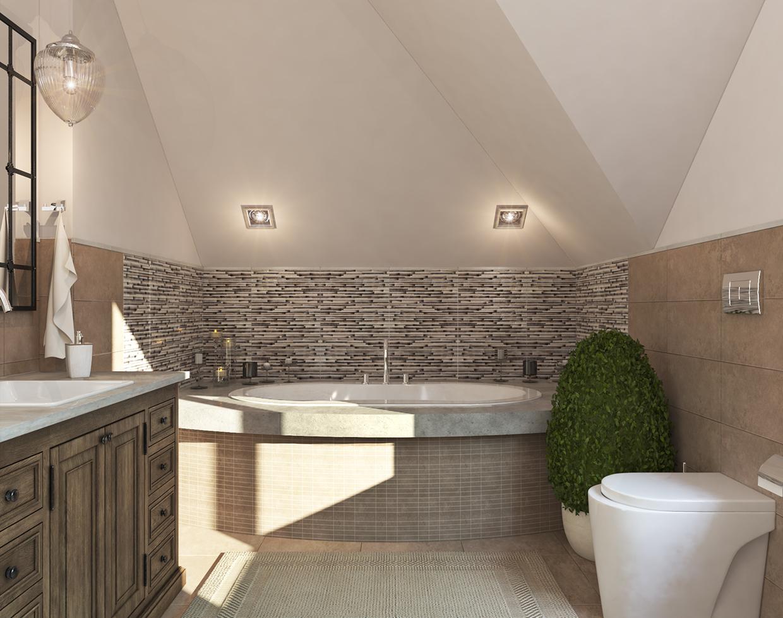 beige bathroom apartment design