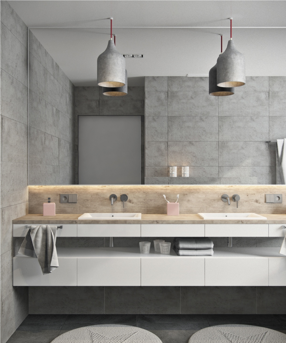 Apartment Bathroom Makeover: Minimalist Apartment Decorating Ideas With Gray Color