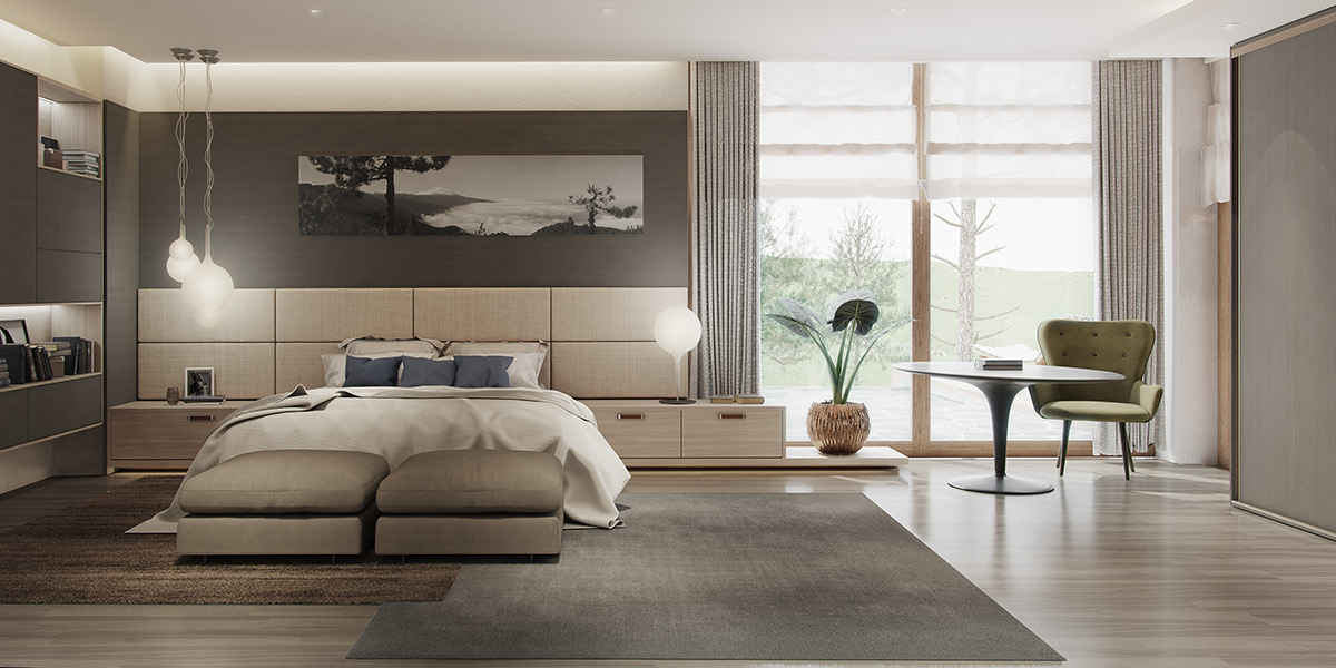 minimalist beige bedroom decorating ideas