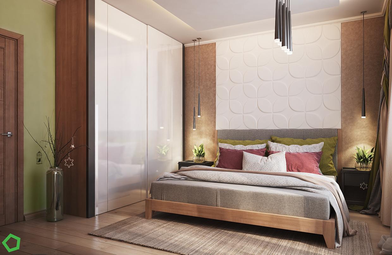 unique wall texture bedroom