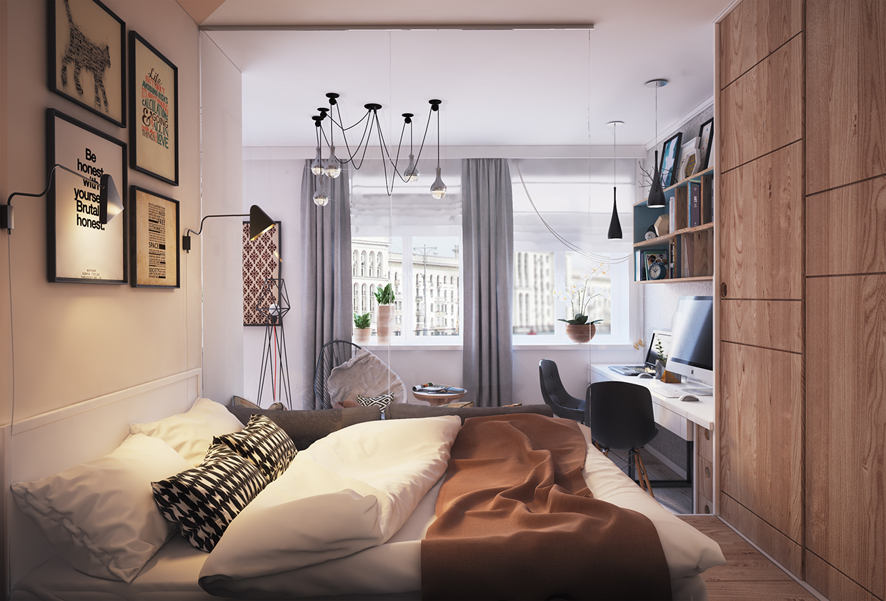 creative wall decoration for bedroom