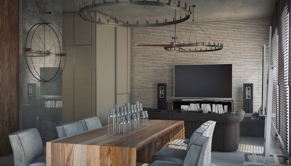 awesome gray dining room