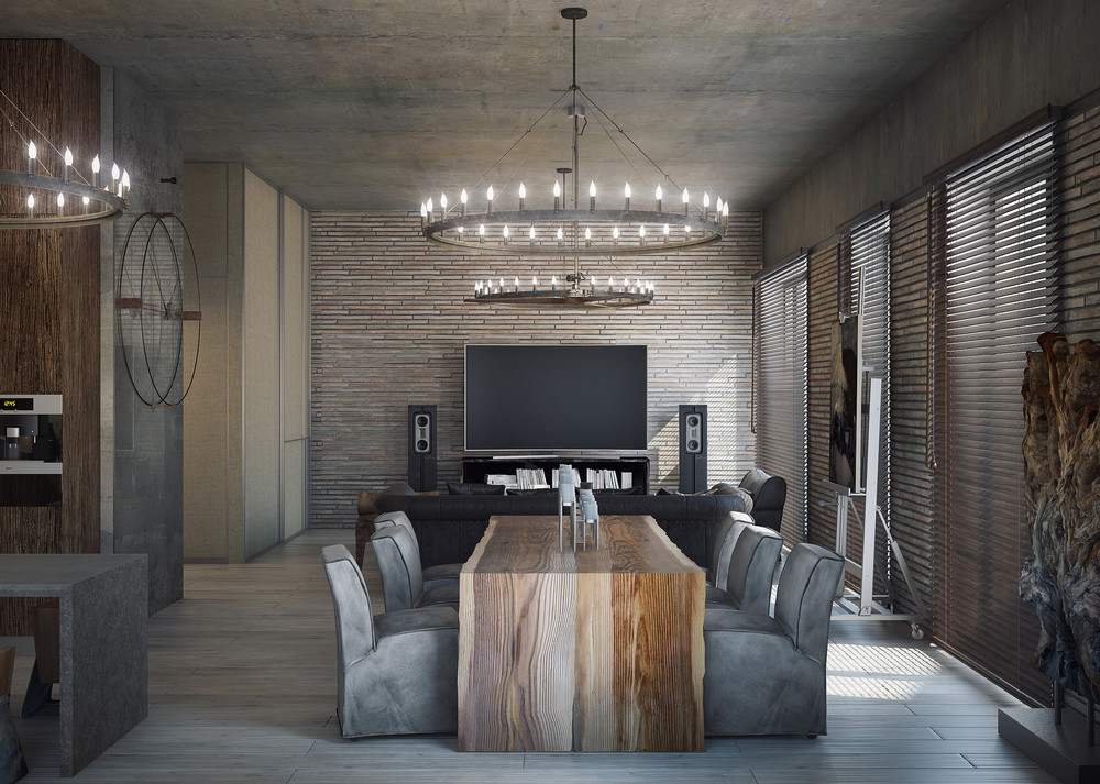 apartment plans for dining room