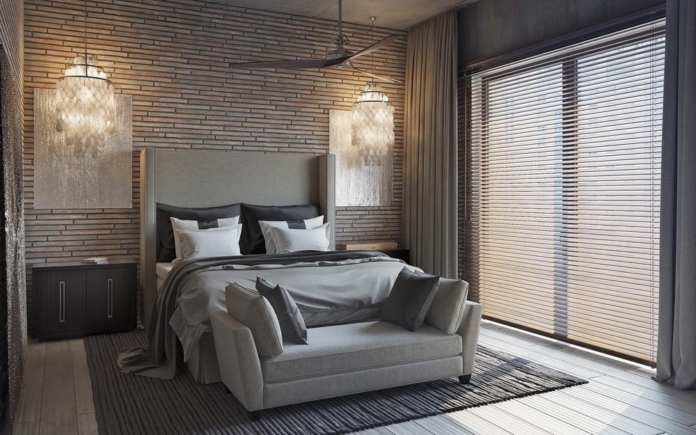 open plan bedroom apartment design