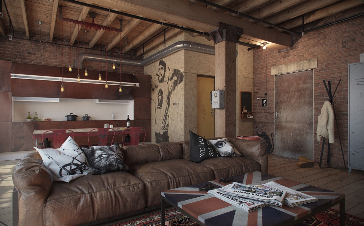 small studio apartment brick. Studio Apartment With Exposed Brick Studio Apartment Decorating Exposed Brick Wall Which Suitable For