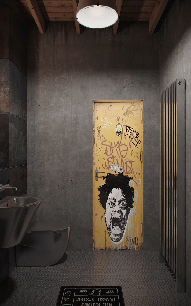 studio bathroom apartment design