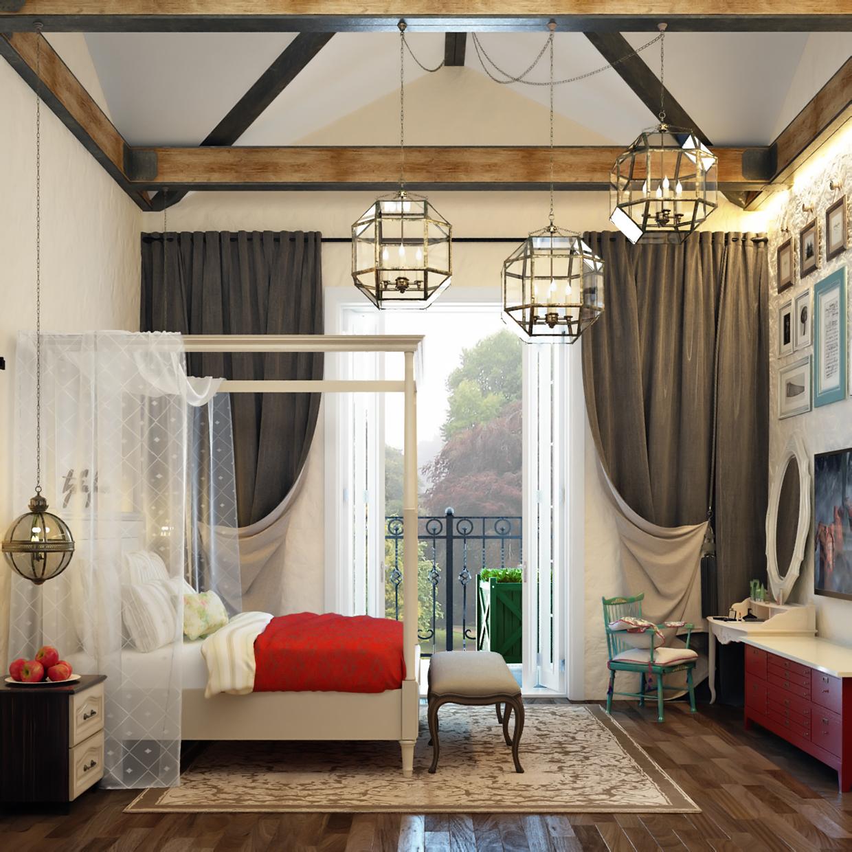 luxury valance bedroom design