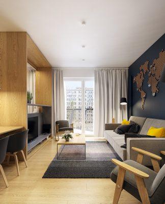 modern Scandinavian apartment interior design