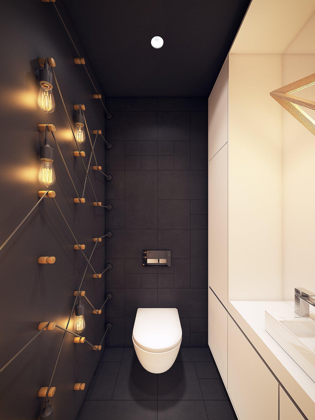 scandinavian bathroom apartment design