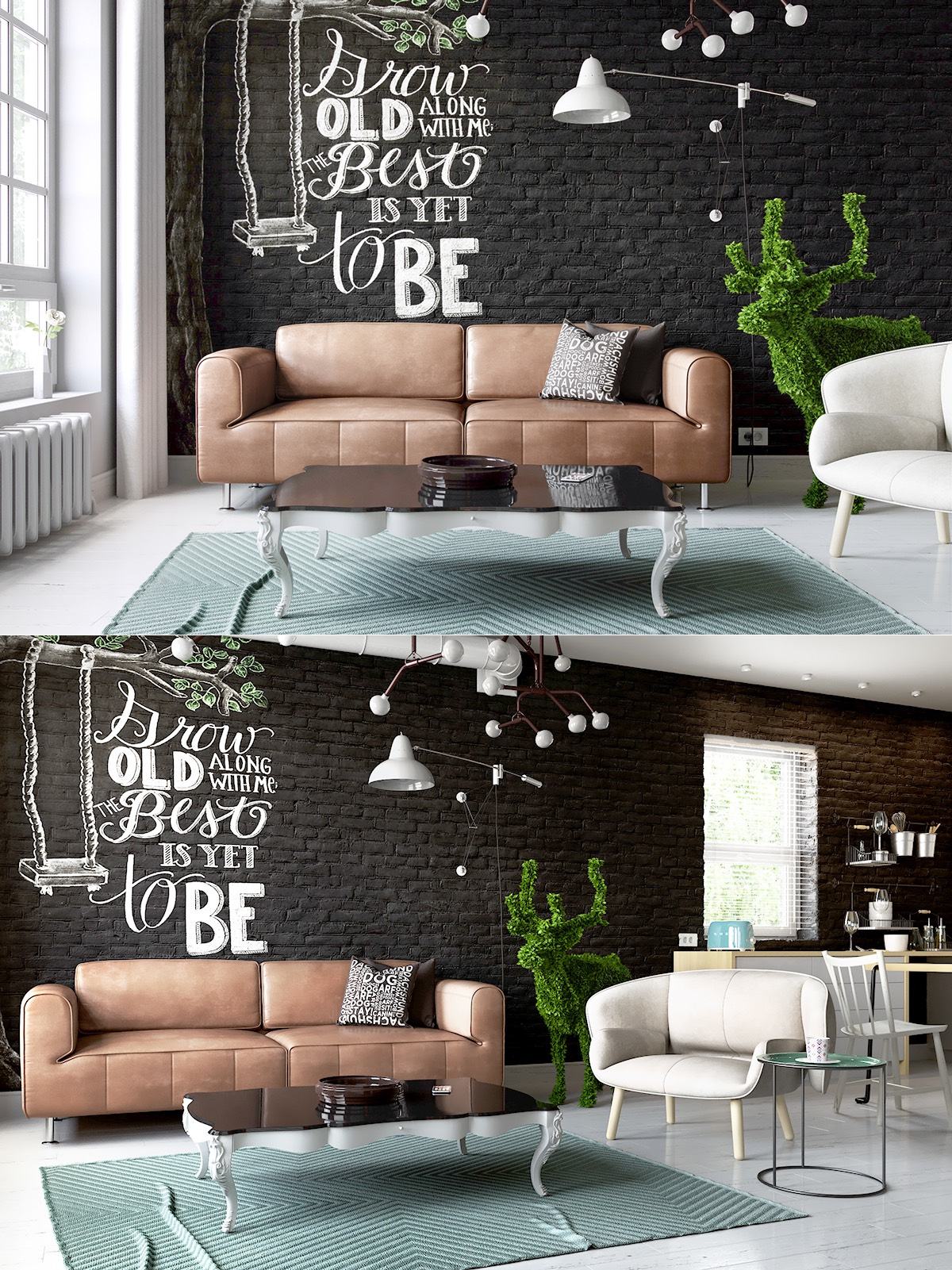wall decoration black living room