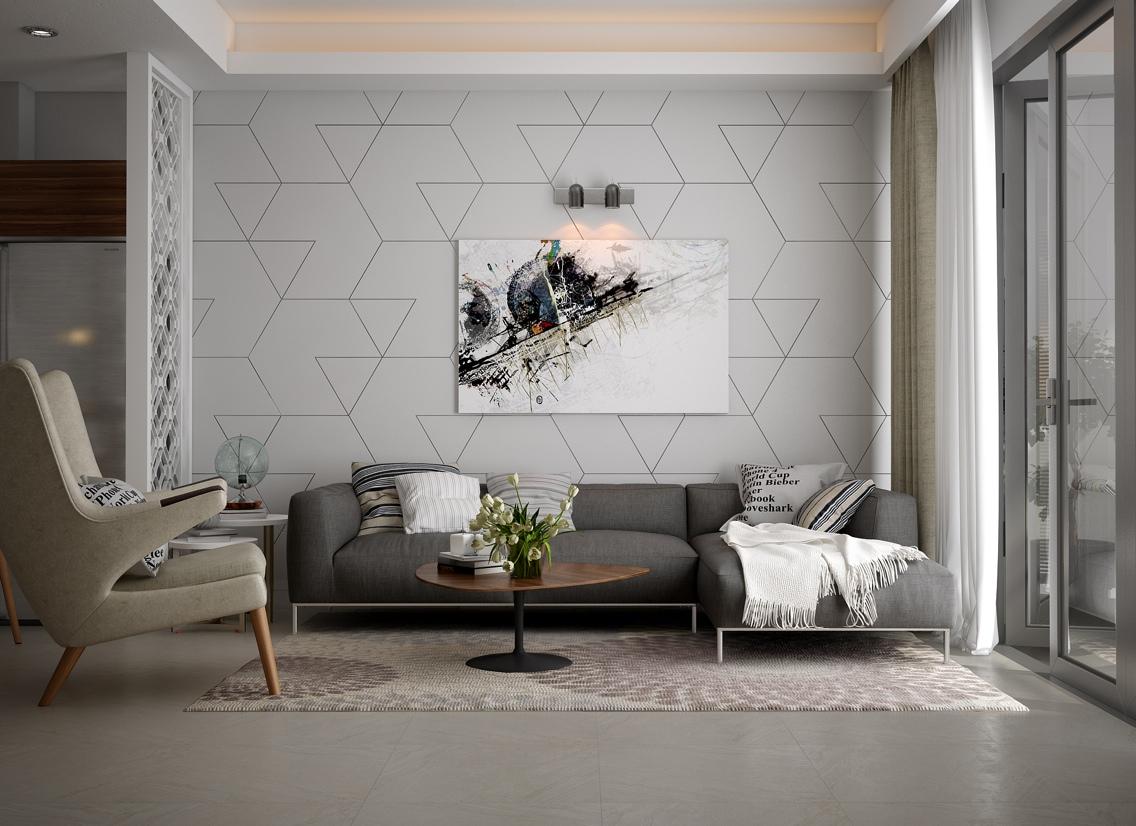 soft color living room decor