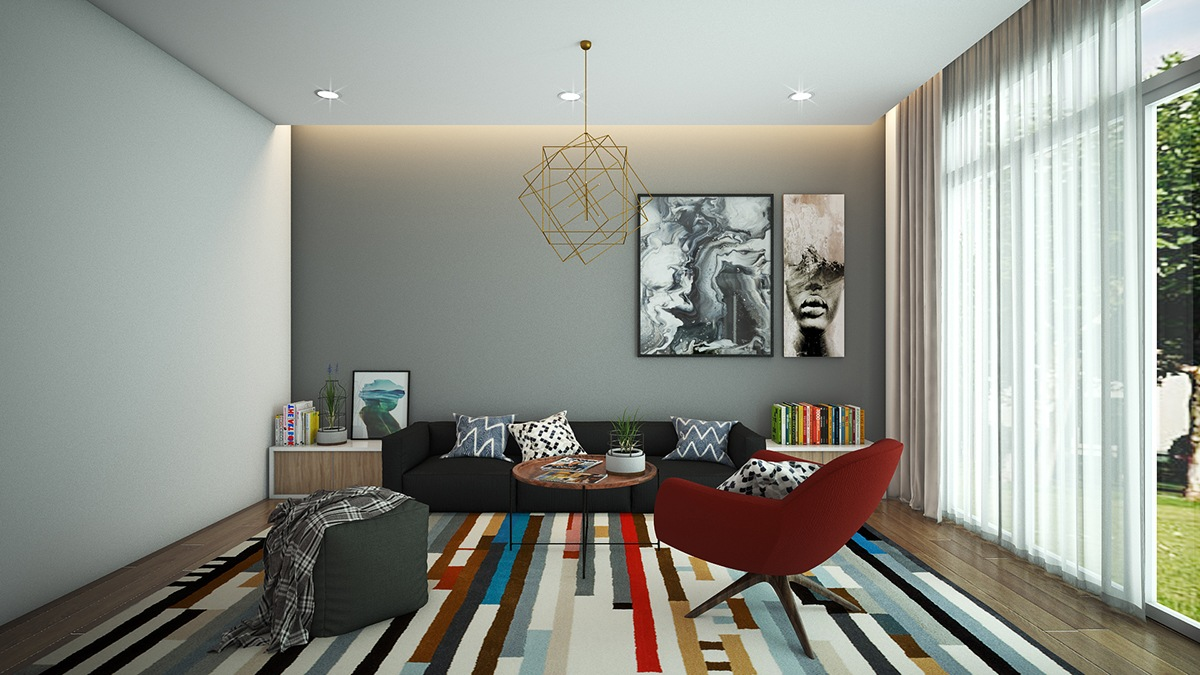 colorful modern apartment