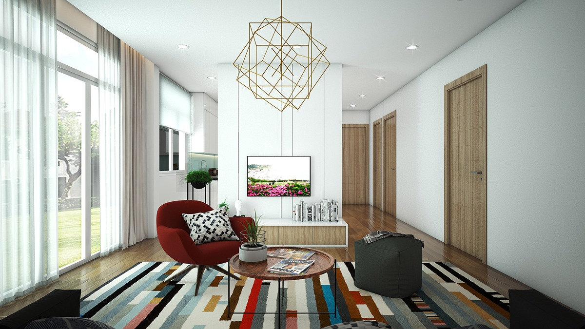 colorful living room apartment designcolorful living room apartment design