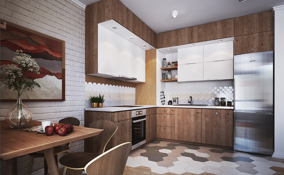 kitchen design for apartment decorating