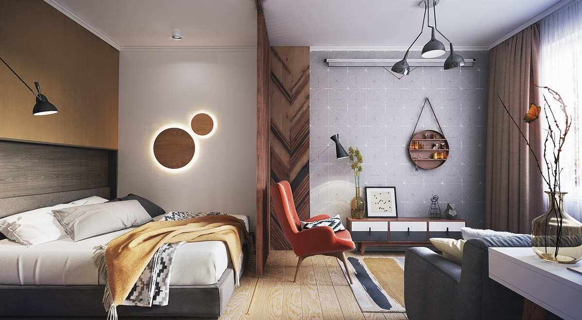 bedroom design for apartment decorating
