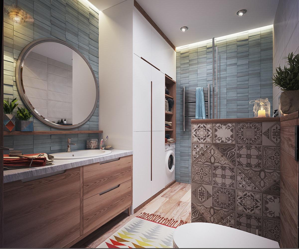 tiny apartment bathroom design
