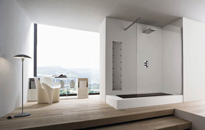 Sensational Modern Bathroom Design With White Color Showing The Beauty Of Largest Home Design Picture Inspirations Pitcheantrous