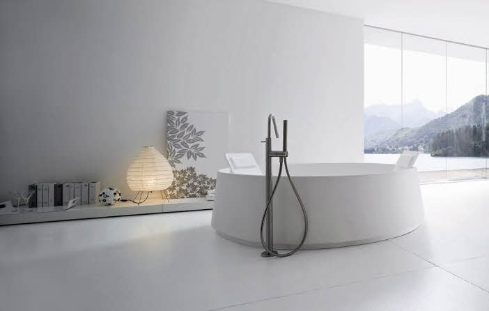 modern bathroom with perfect bathtubs