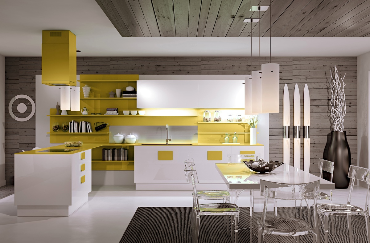 gorgeous yellow kitchen design