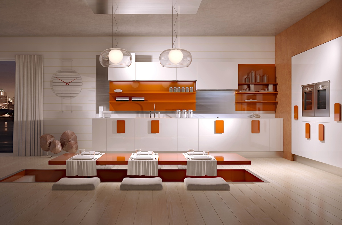 bright color kitchen design