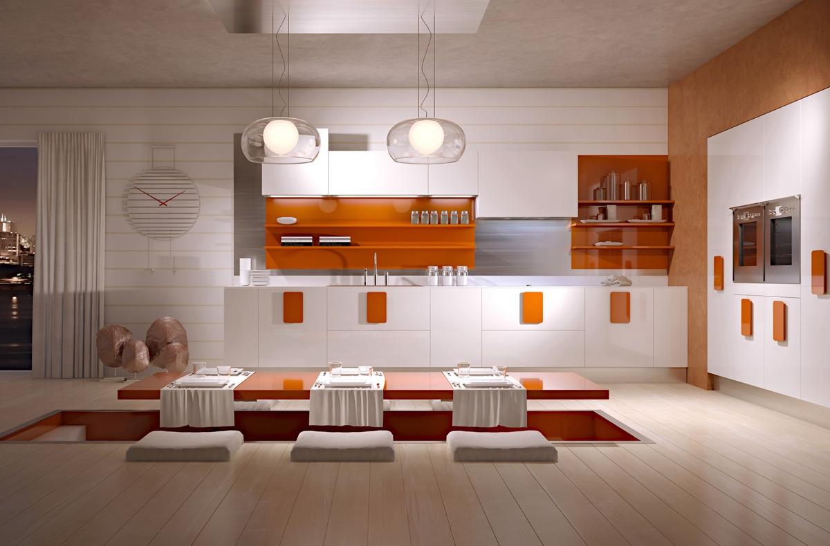 bright color kitchen design