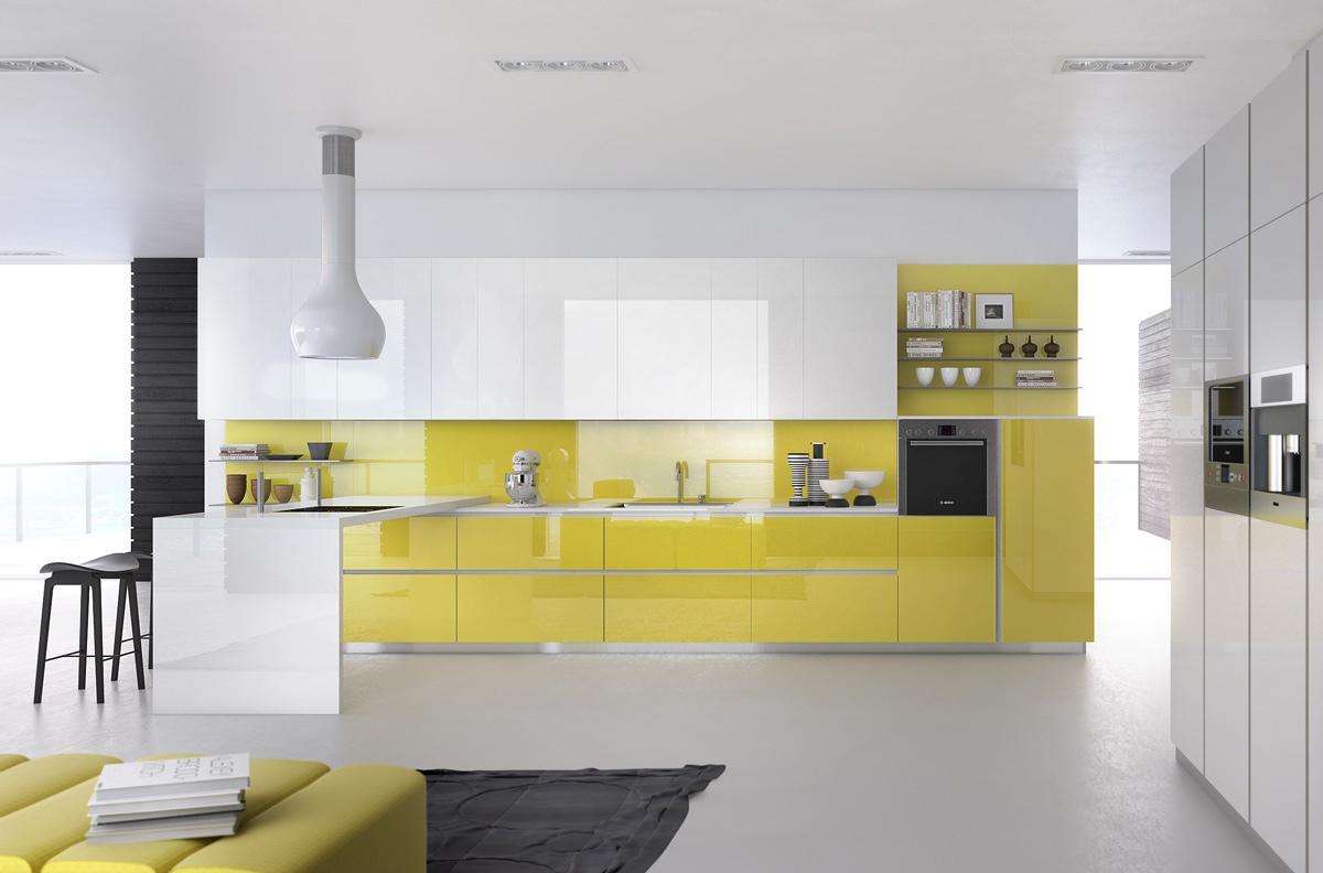 gorgeous soft yellow ktchen design