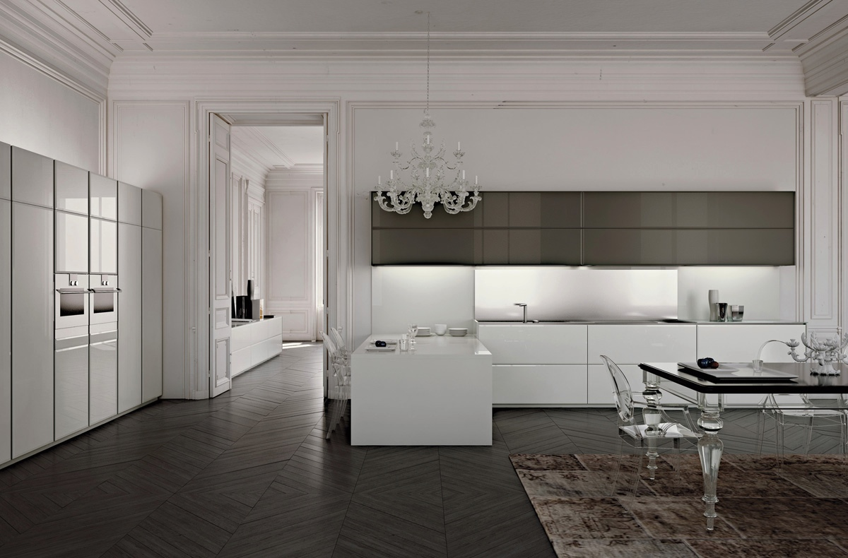 luxury gray kitchen design