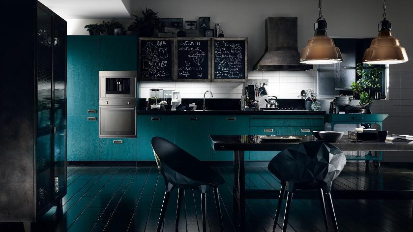 kitchen decorating with dark furniture