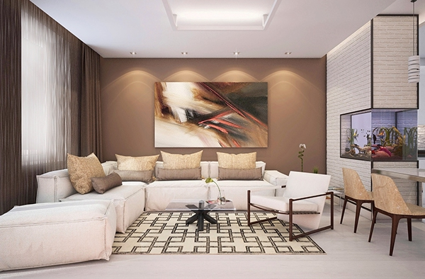 brown accents for living room