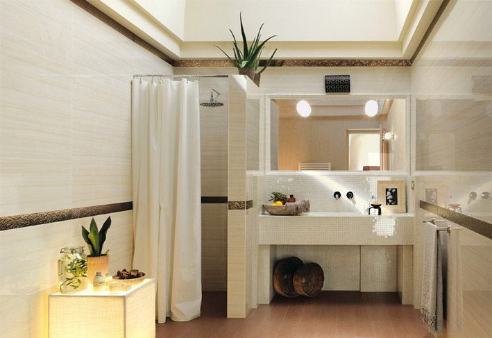 Sophisticated bathroom scheme