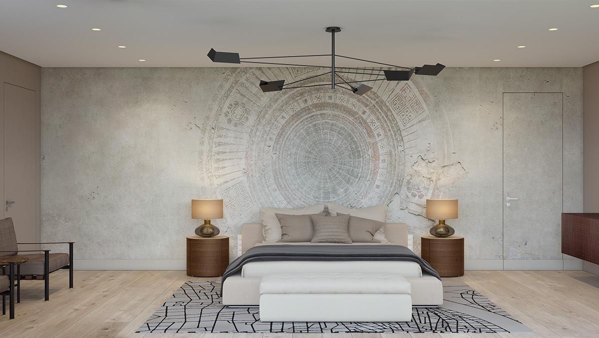 wall texture dimension bedroom design