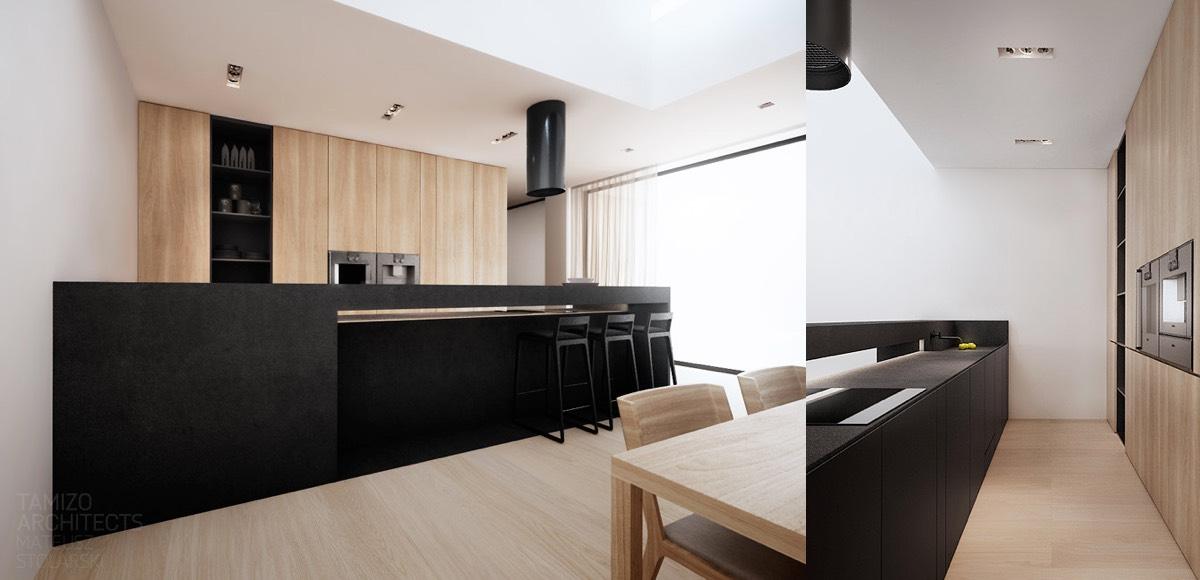 black and white kitchen cabinet