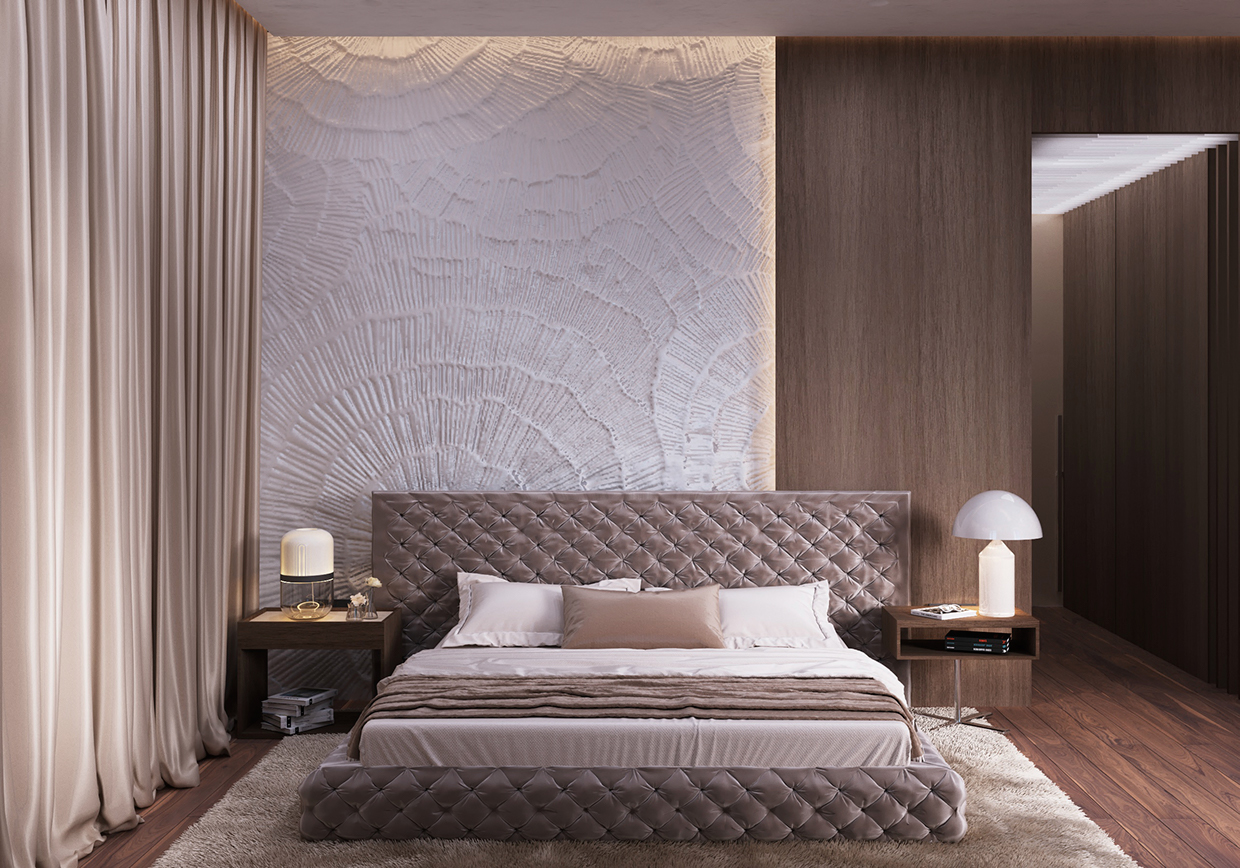 modern wall bedroom design