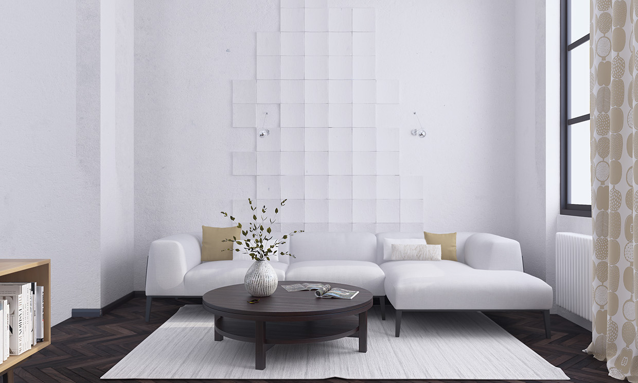 Living room decorating ideas with minimalist design Wall texture designs for living room