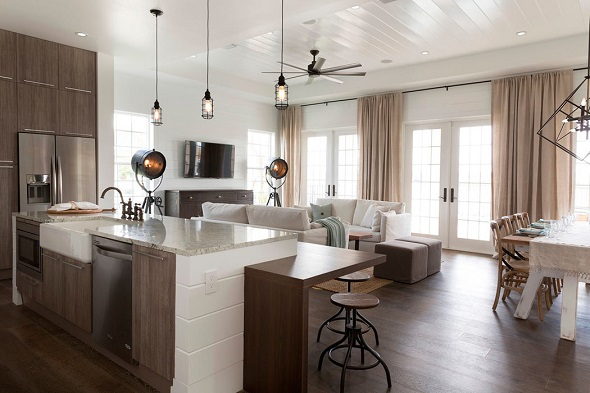 Beautiful kitchen designs with wooden accents