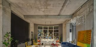 Creative living room design with smart interior