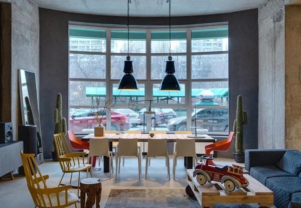 Creative living room design by Sergey Makhno