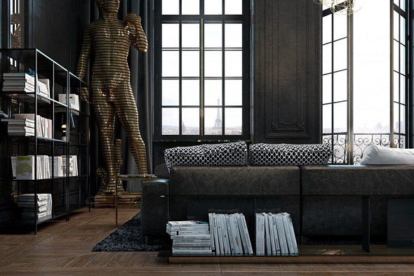 Living room decorating with modern interior