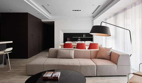 inspiring minimalist apartment design with contemporary decor will