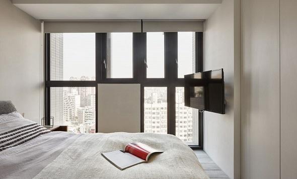 Minimalist bedroom design with manly interior