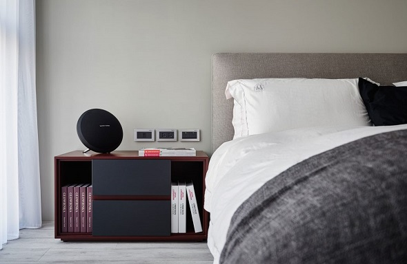 Minimalist bedroom design with modern interior