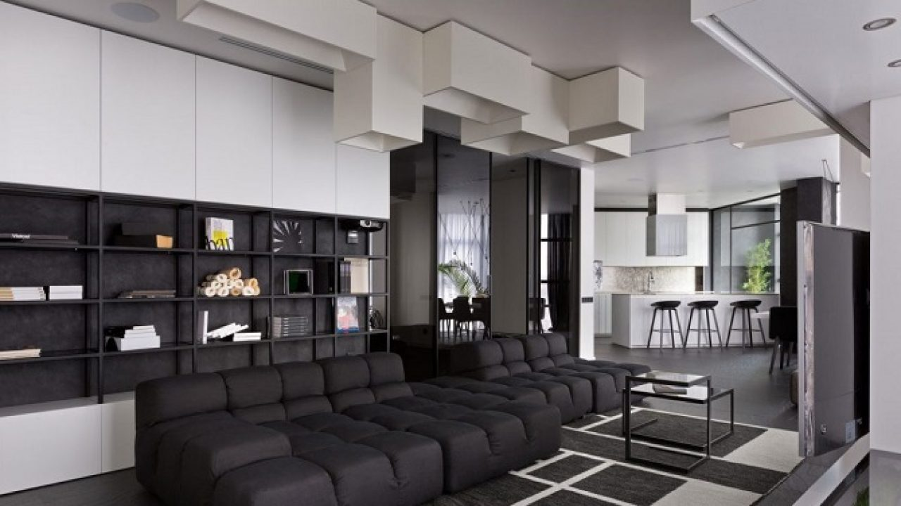 Take A Look This Modern Apartment Design With Black And White Interior In It Roohome,Small Apartment Plans India