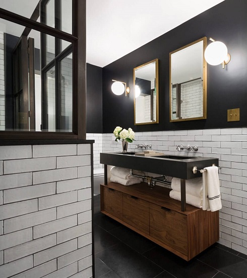 Modern bathroom design decoration